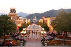 Hong Kong Disneyland. Main Street, USA in the Hong Kong Disneyland Stock Photo