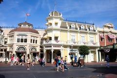 Main Street USA, magiskt kungarike, Walt Disney World Royaltyfria Foton