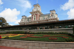 Main Street USA Train Station - Magic Kingdom Royalty Free Stock Images