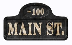 Free Main Street USA Vintage Sign American Disney Royalty Free Stock Image - 126759066