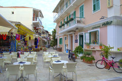 Main street view,Lefkada, Greece Royalty Free Stock Photos