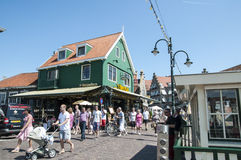 Main street in Volendam Stock Images