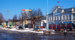 Main street at Vyazniki in winter. Russia Stock Images