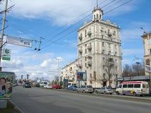Main Street, Zaporozhye, UA Royalty Free Stock Photo