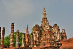 The main stupa. Wat Mahathat. Historical Park. Sukhothai. Thailand Stock Photography