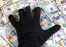 Main sur l'argent photographie stock libre de droits