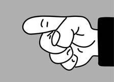 Main sur le fond gris illustration libre de droits