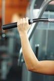 Main sur le traitement en gymnastique Photo libre de droits