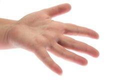 Main sur un fond blanc Images stock