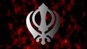 The main symbol of Sikhism – sign Khanda, Video stock video footage