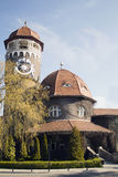 The main symbol of Svetlogorsk early Rauschen - Tower of municipal hydropathic Royalty Free Stock Photography