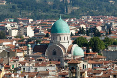 The main synagogue in Florence, Stock Photo
