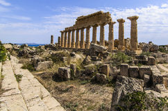 Main temple of the acropolis of selinunte Royalty Free Stock Photography
