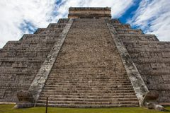 The Main Temple at the ancient ruins of Chichen Itza royalty free stock image