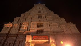 The main temple complex in Hampi at night. stock video footage