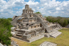 Main temple at Edzna, Campeche Royalty Free Stock Image