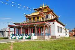 Main temple of the Ivolginsky Datsan Stock Images