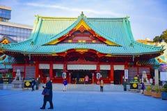 Main temple at Kanda shrine in Tokyo. Main temple at Japanese traditional shrine. Chiyoda district Tokyo Japan - 02.07.2019 : It s a main temple at the royalty free stock image
