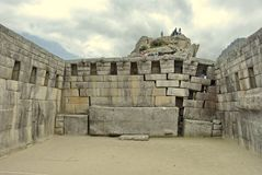 Main temple on Machu Picchu Stock Photo