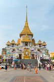 Main temple structure of Wat Traimit, home to the famous Golden Royalty Free Stock Photos