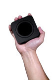 Main tenant la boîte noire carrée Photos libres de droits