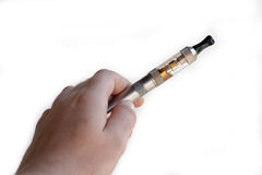 Main tenant la cigarette électronique photo stock