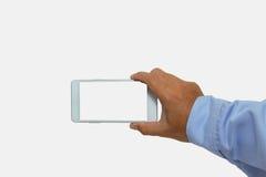 Main tenant le concept mobile de smartphone Image stock