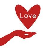 Main tenant un coeur illustration libre de droits