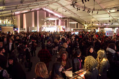 Main Tent Lobby at NYC Fashion Week Fall 2011 Stock Photos