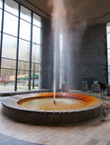 Main termal spring in Karlovy Vary stock image