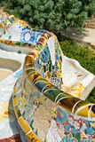 Main Terrace at Parc Guell in Barcelona, Spain Royalty Free Stock Photos