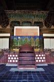 Main throne hall Myeongjeongjeon of Palace Changgyeonggung in Seoul, Korea stock image