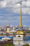 Main tower of Admiralty, Peter and Paul Cathedral Royalty Free Stock Photos