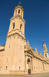 Main Tower Basilica-Cathedral El Pilar Zaragoza Royalty Free Stock Image