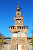 Main tower of Castello Sforzesco in Milan Royalty Free Stock Images