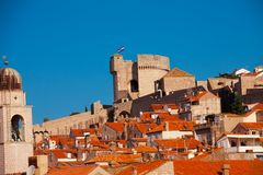 Main tower of Dubrovnik fort Stock Image