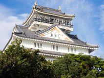 Main tower of Gifu castle on the top of Mount Kinka Stock Photo