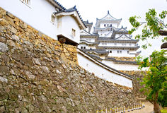 Main tower of the Himeji Castle in Japan Royalty Free Stock Photos