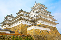 Main tower of the Himeji Castle in Japan Royalty Free Stock Photo