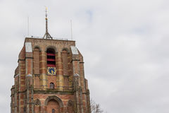 Main tower of Leeuwarden in Friesland in the Ne Royalty Free Stock Image