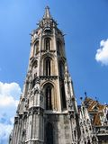Main tower of Matyas Church - Budapest, Hungary Stock Images