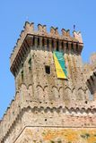 Main tower of a medieval castle near Ancona, Italy Stock Photo