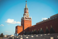Main tower of Moscow Kremlin and the Red square Royalty Free Stock Photo