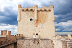 Main tower of Peñafiel castle Stock Photo