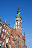 Main Town Hall Tower in Gdansk Stock Images