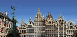 Main town square of Antwerp, Belgium. Royalty Free Stock Photography