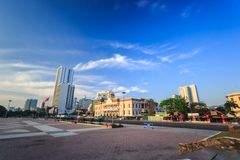 Main Town Square at morning In Nha Trang, Vietnam Royalty Free Stock Images