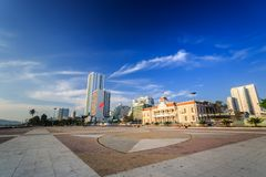 Main Town Square at morning In Nha Trang, Vietnam Stock Image
