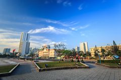 Main Town Square at morning In Nha Trang, Vietnam Royalty Free Stock Photo