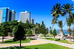 Main Town Square In Nha Trang, Vietnam Royalty Free Stock Photos